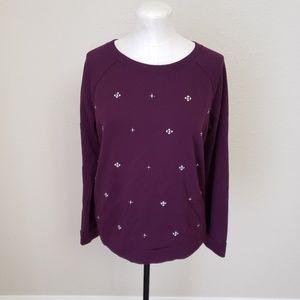 Ann Taylor Beaded Sweater Medium